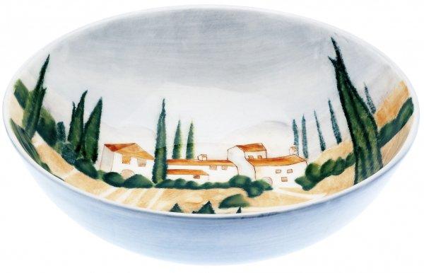 """Magu Keramik Schale rund 24cm handbemalt """"SIENA"""" - 125 113"""