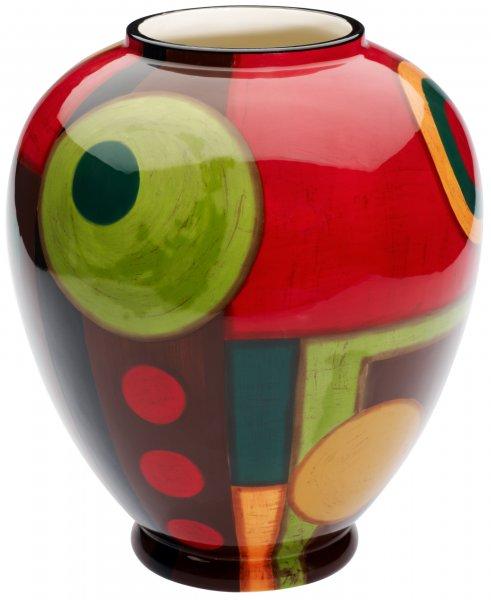 """Magu Keramik Vase 25cm handbemalt """"SAMBA"""" - 190 882"""