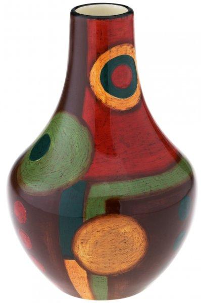 """Magu Keramik Vase 20cm handbemalt """"SAMBA"""" - 190 871"""