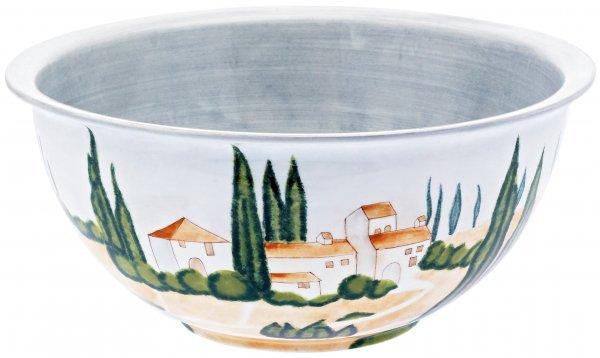 "Magu Keramik Schüssel rund 34cm handbemalt ""SIENA"" - 125 015"