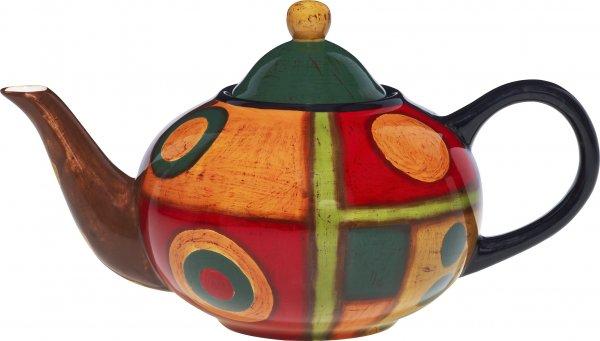 "Magu Keramik Teekanne 1,1 ltr. handbemalt ""SAMBA"" - 190 713"