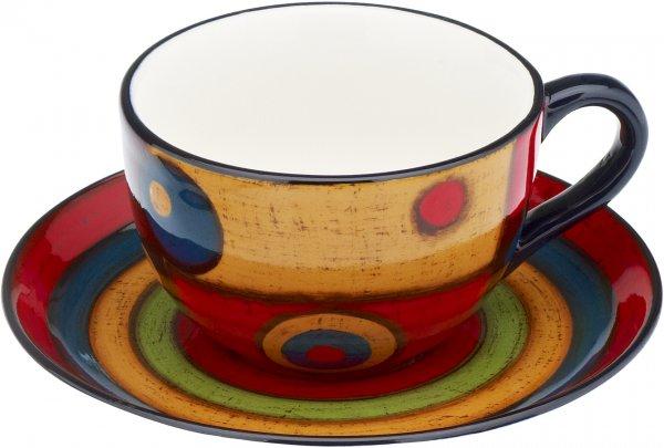 "Magu Keramik Tasse mit Untere handbemalt ""SAMBA"" - 190 490"