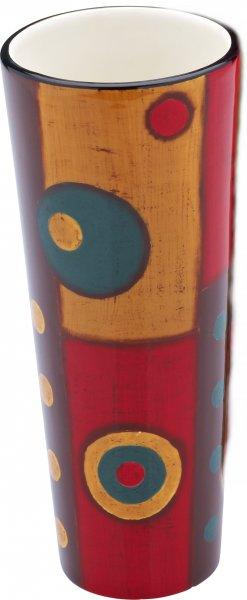 """Magu Keramik Vase 20cm handbemalt """"SAMBA"""" - 190 846"""