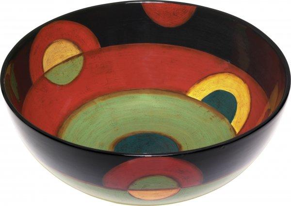 "Magu Keramik Schale rund 35cm handbemalt ""SAMBA"" - 190 116"