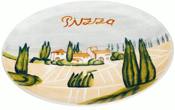 "Magu Keramik Pizza-Teller 32,5cm handbemalt ""SIENA"" - 125 316"