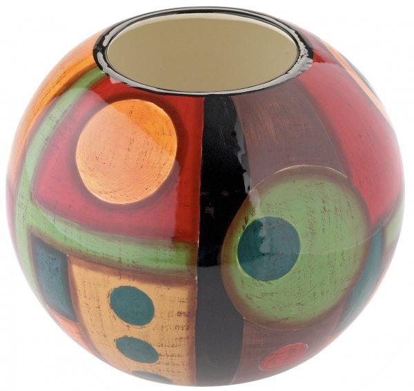 """Magu Keramik Vase 15cm handbemalt """"SAMBA"""" - 190 813"""