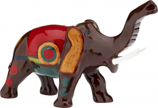 "Magu Keramik Elefant 17cm handbemalt ""SAMBA"" - 190 953"