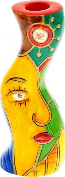 "Magu Keramik Leuchter 18cm handbemalt ""FACE to FACE"" - 180 894"