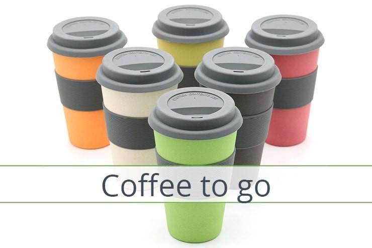 Coffee to go Bamboo Mugs