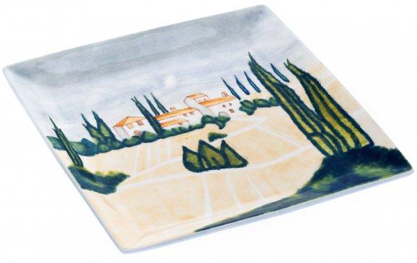 "Magu Keramik Teller eckig 27cm handbemalt ""SIENA"" - 125 323"
