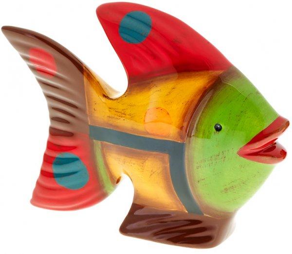 """Magu Keramik Fisch 12cm handbemalt """"SAMBA"""" - 190 969"""