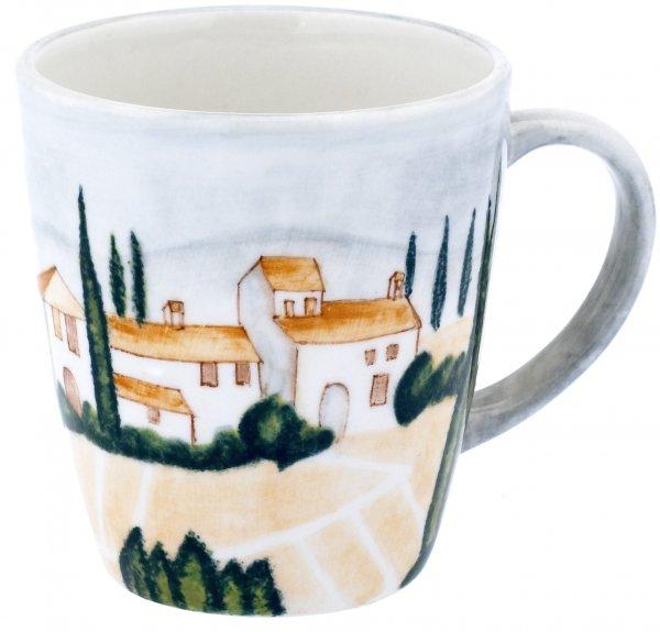 """Keramik Keramik Henkelbecher handbemalt """"SIENA"""" - Magu 125 463"""