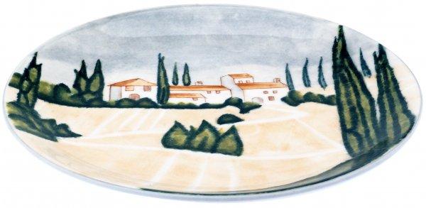 "Magu Keramik Teller flach 27cm handbemalt ""SIENA"" - 125 313"