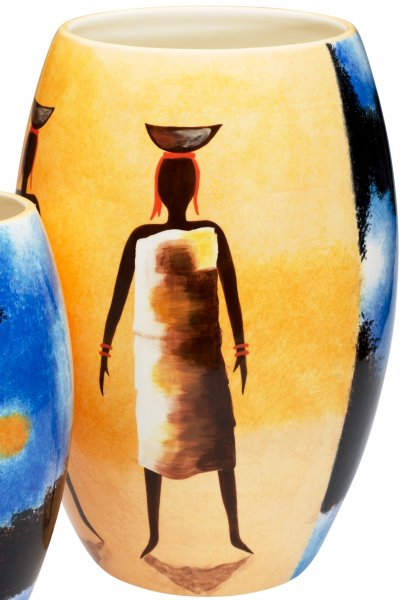 """Magu Keramik Vase 35cm handbemalt """"AFRICAN DREAM"""" - 194 836"""