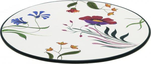 "Magu Keramik Tortenplatte 36cm handb.""BLÜTENZAUBER"" - 124 264"