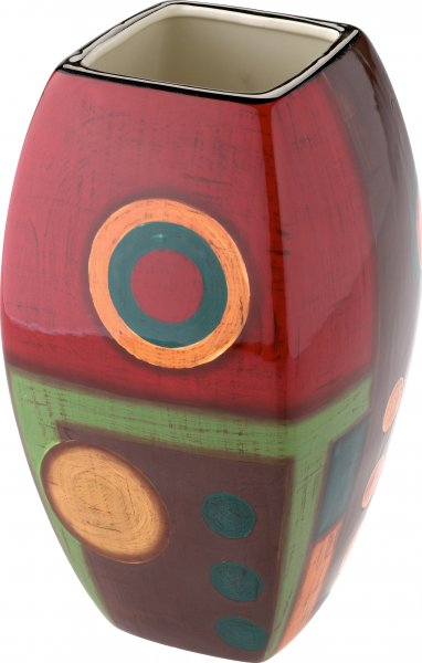 """Magu Keramik Vase 25cm handbemalt """"SAMBA"""" - 190 863"""