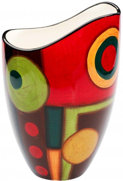 """Magu Keramik Vase 25cm handbemalt """"SAMBA"""" - 190 836"""