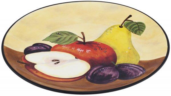 "Keramik Teller flach 27cm handbemalt ""TOSCANA"" - Magu 120 313"
